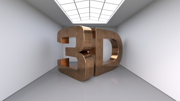 Large three-dimensional copper letters