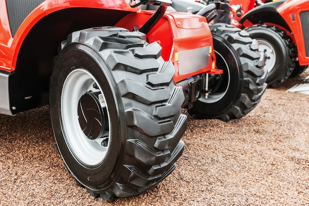 Large tractor wheels with treads