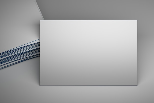 Large white empty business card
