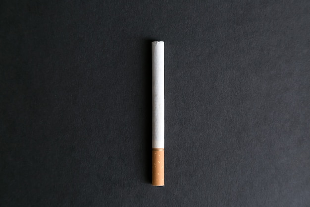 A large whole cigarette with tobacco
