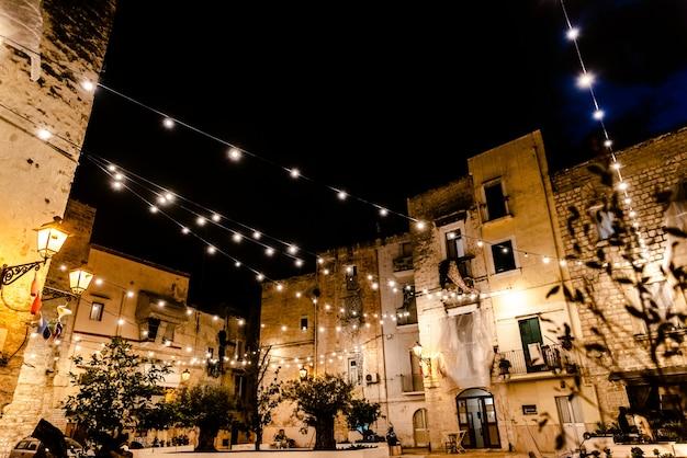 Largo albicocca piazza degli innamorati at night.