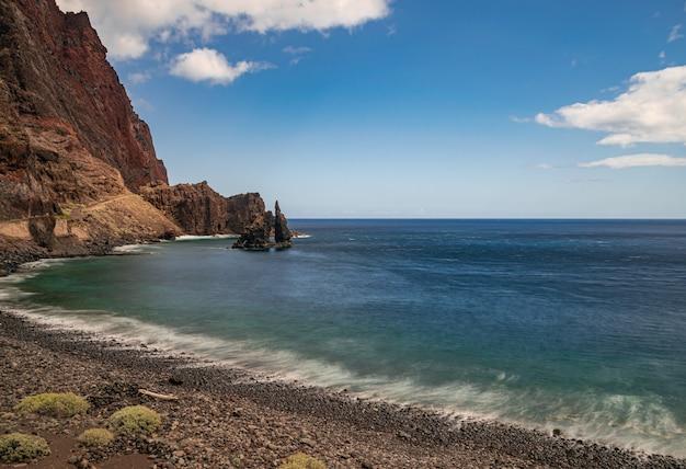 Las almorranas beach, roque de bonanza volcanic rock formation, long exposure photography, valverde, el hierro, canary islands, spain