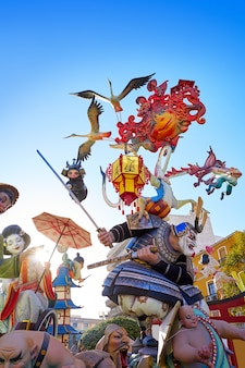 Las fallas fest figures in valencia of spain