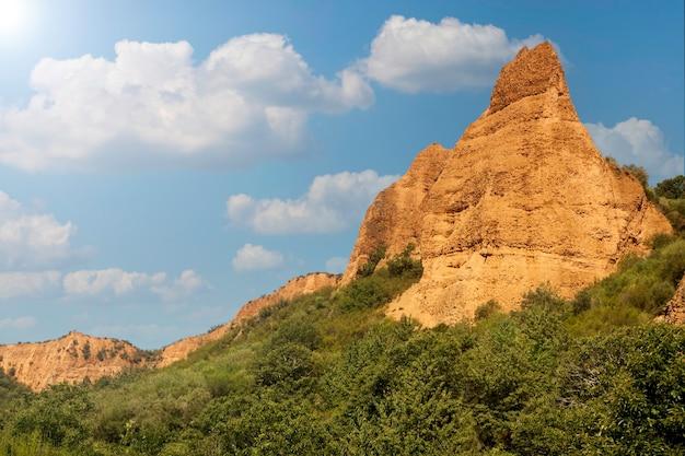 ラスメデュラス、レオン、カスティーリャイレオンの古代ローマの金鉱。スペイン。パノラマ写真