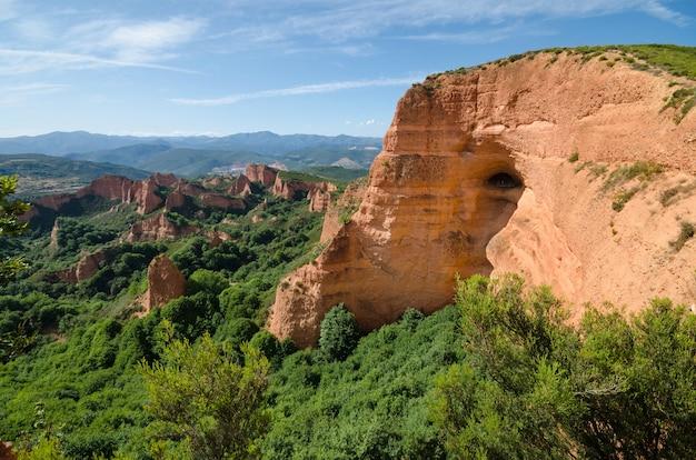 ラスメドゥスの風景。スペインのレオンにある古代ローマ金鉱山。