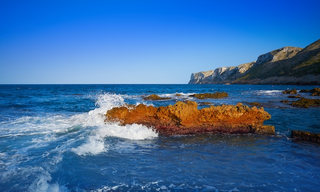 Las rotas beach in denia of alicante