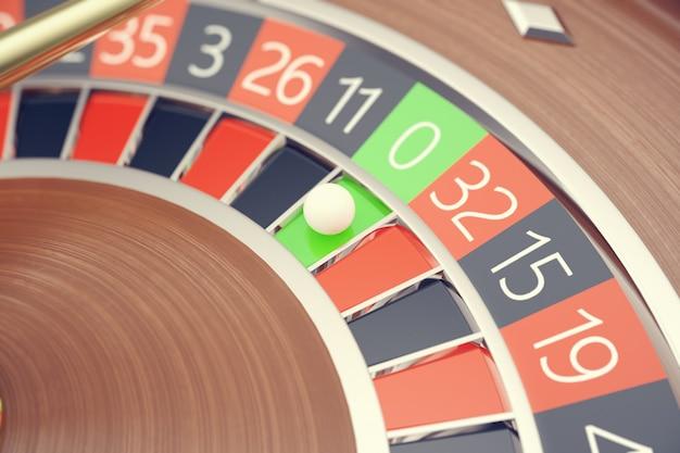 Las vegas casino roulette, casino roulette game, casino gambling concept 3d rendering.