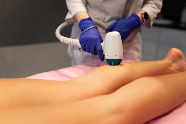 Laser depilation leg hair removal