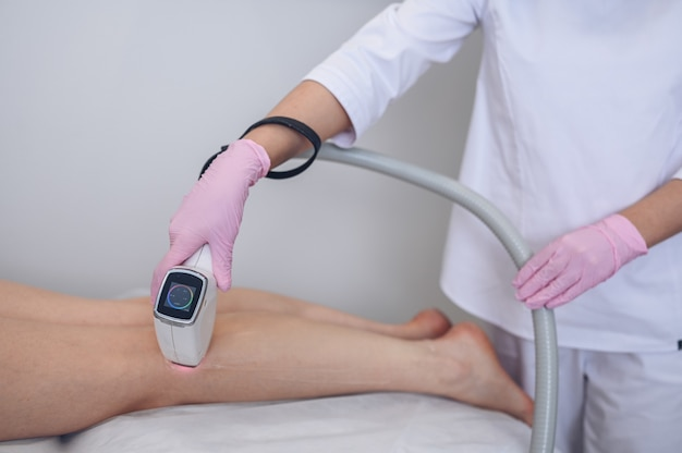 Laser epilation and cosmetology in beauty salon