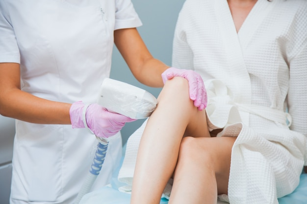 Laser hair removal in a clinic