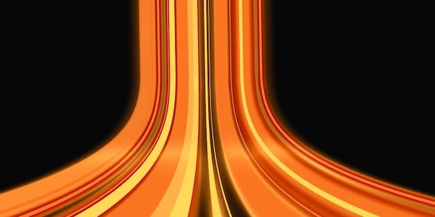 Laser light movement straight line emitting 3d rendering