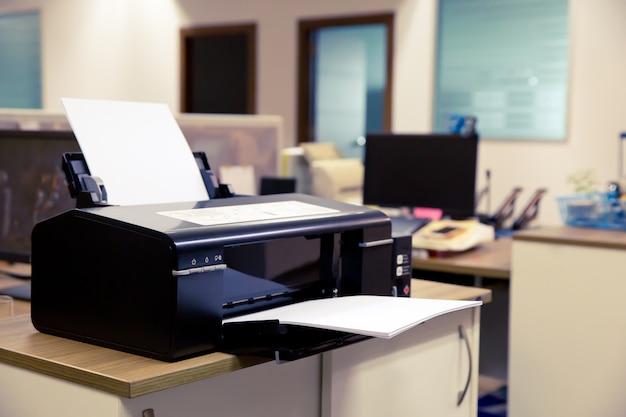 Laser printer in office.