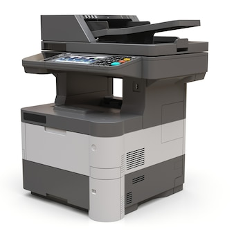 Laser printer on the white surface