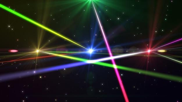 다색 광선의 레이저 쇼