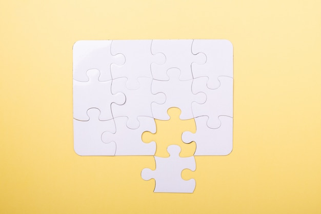 Last piece jigsaw white puzzle