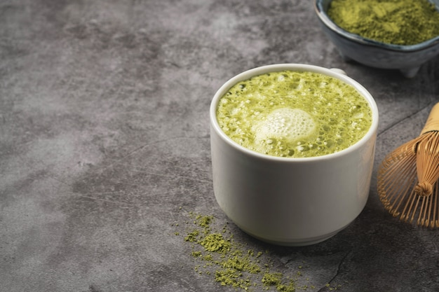 Latte matcha coffee