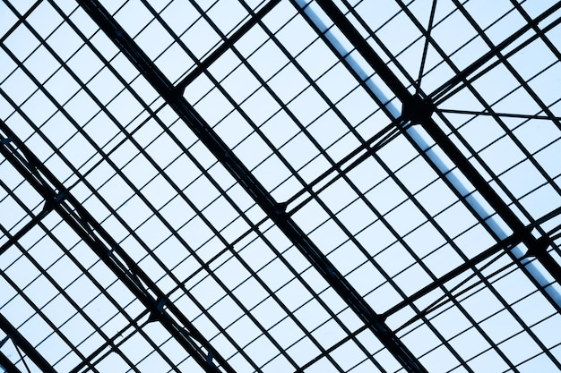 Lattice frame of skylight window -  abstract architectural background