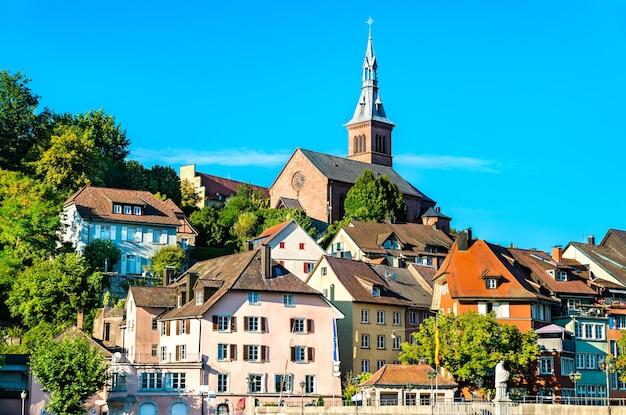 Лауфенбург, приграничный город на берегу рейна в германии.