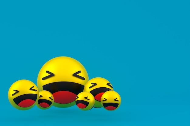 웃음 아이콘 반응 이모티콘 3d 렌더링