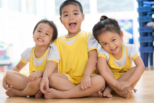 Laughing asian children