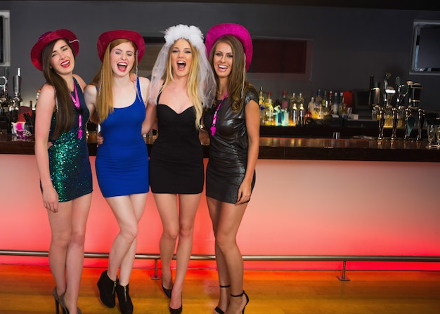 Laughing friends having a hen party