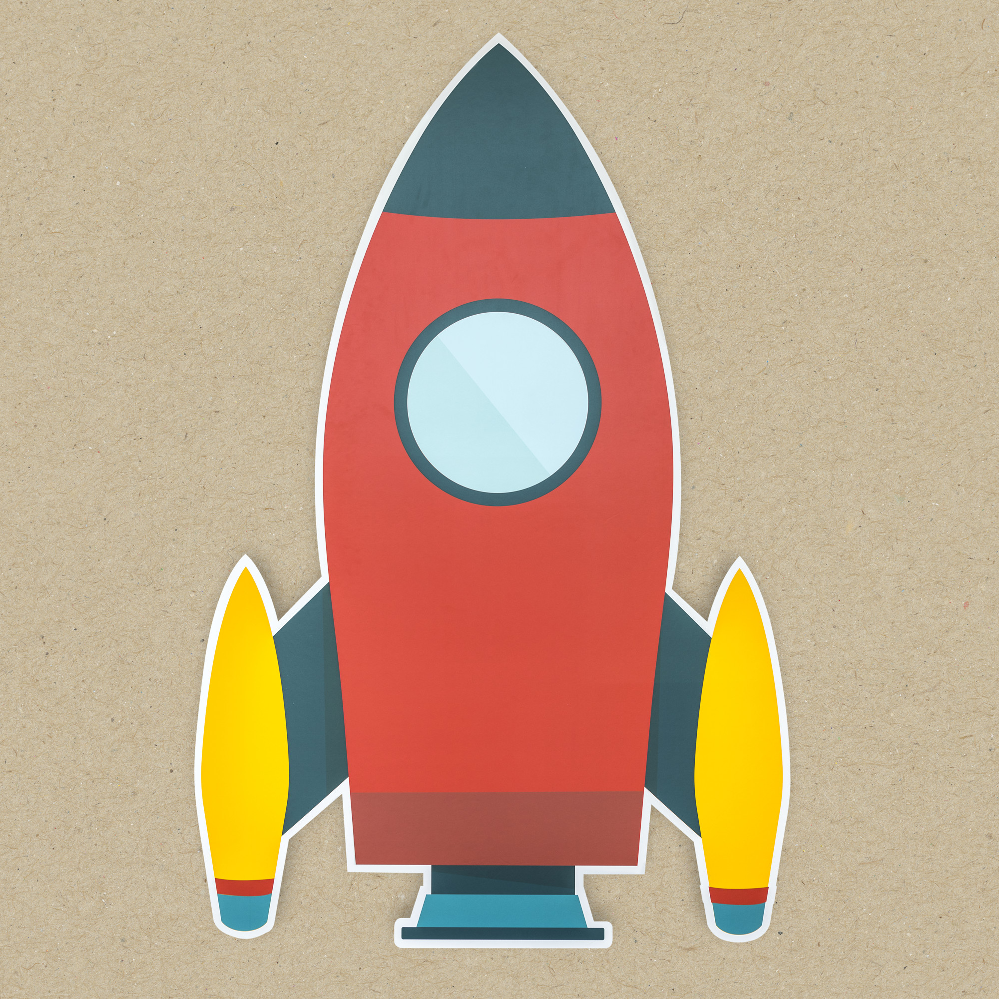 Launch rocket icon isolated