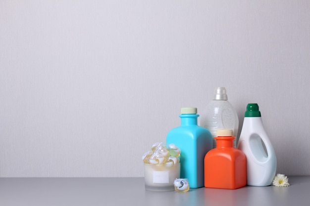 Laundry detergent washing products isolated