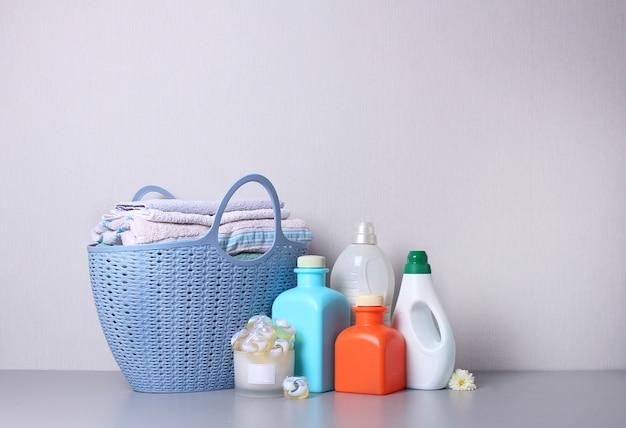 Laundry detergent washing products isolated Premium Photo