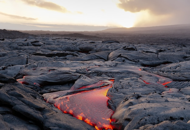 Lava flow, hi, 미국
