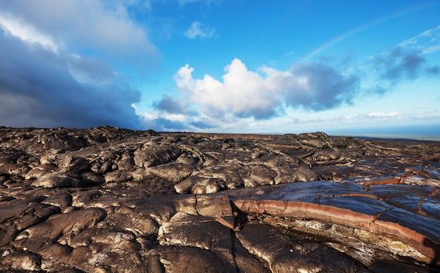 Лавовый поток на большом острове, гавайи