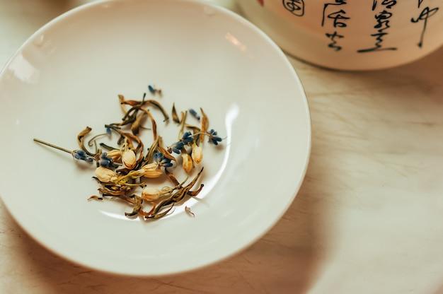 Lavender and jasmine tea