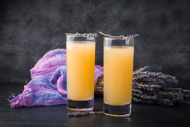 Lavender lemonade with fresh juice