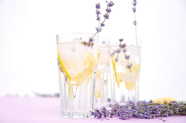 Lavender lemonade with lemon