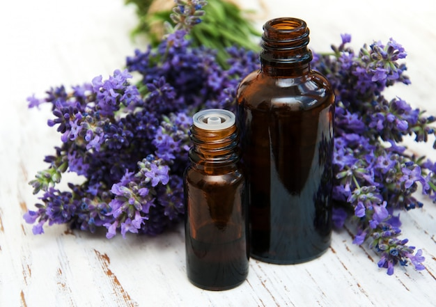 Lavender and massage oil