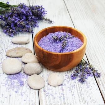 Lavender and massage salt