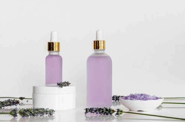 Lavender oils spa treatment arrangement cosmetics