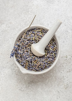 Lavender plant in a bowl arrangement