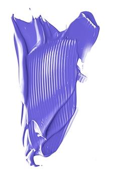 Лаванда фиолетовая косметическая текстура красоты, изолированные на белом фоне, размазанный мазок для макияжа или косметика ...