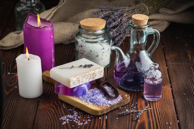 Lavender soap and sea salt