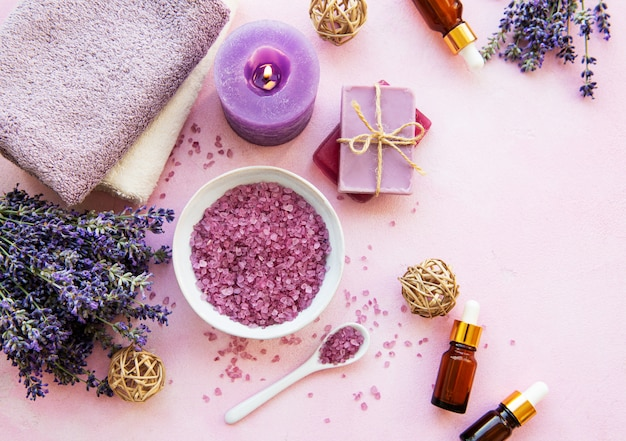 Lavender spa products