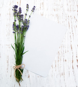Lavender with card