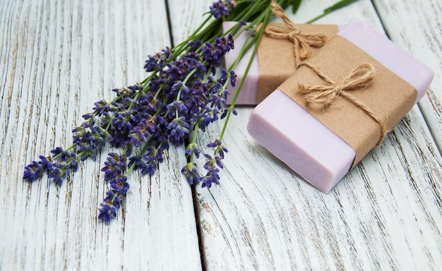 Lavender with soap