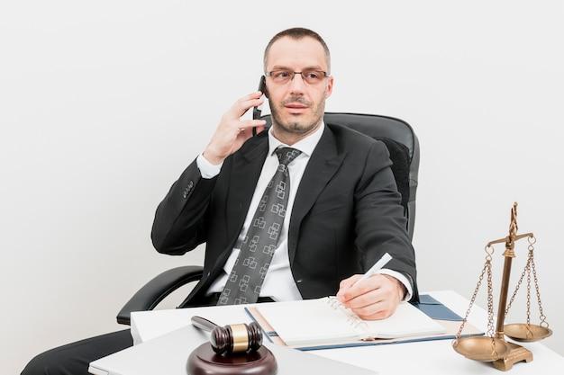 Lawyer talking