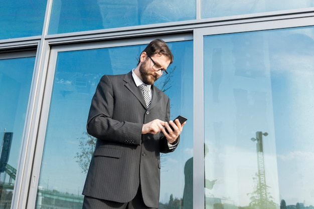 Lawyer with smartphone
