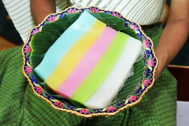 Layer sweet cake
