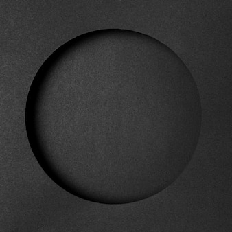 Layers of black circular paper
