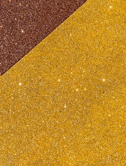 Layers of gradient gold texture copy space