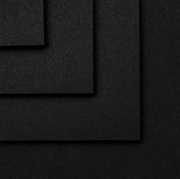黒い正方形のレイヤーの背景のトップビュー