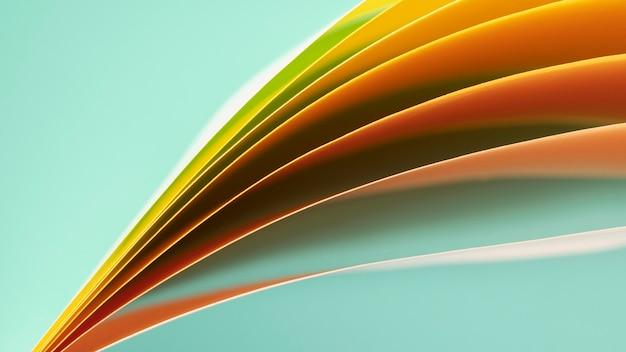 オレンジ色の紙の層
