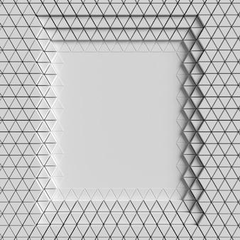 多角形の幾何学的形状のレイヤーが空間をコピーします